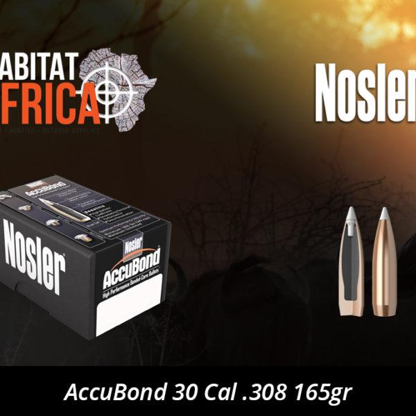 Nosler AccuBond 30 Cal 308 165gr Bullet