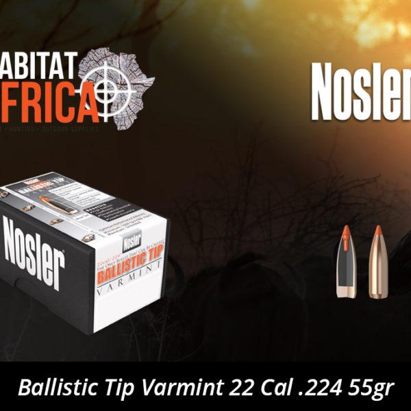 Nosler Ballistic Tip Varmint 22 Cal 224 55gr Bullet