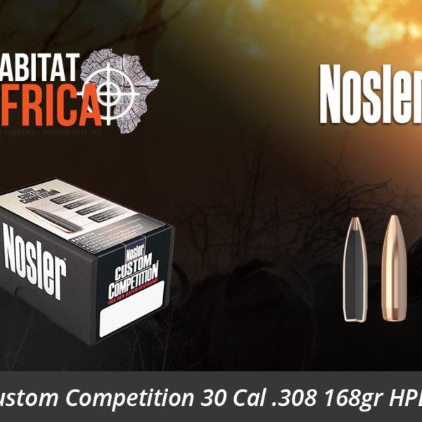 Nosler Custom Competition 30 Cal 308 168gr HPBT Bullets