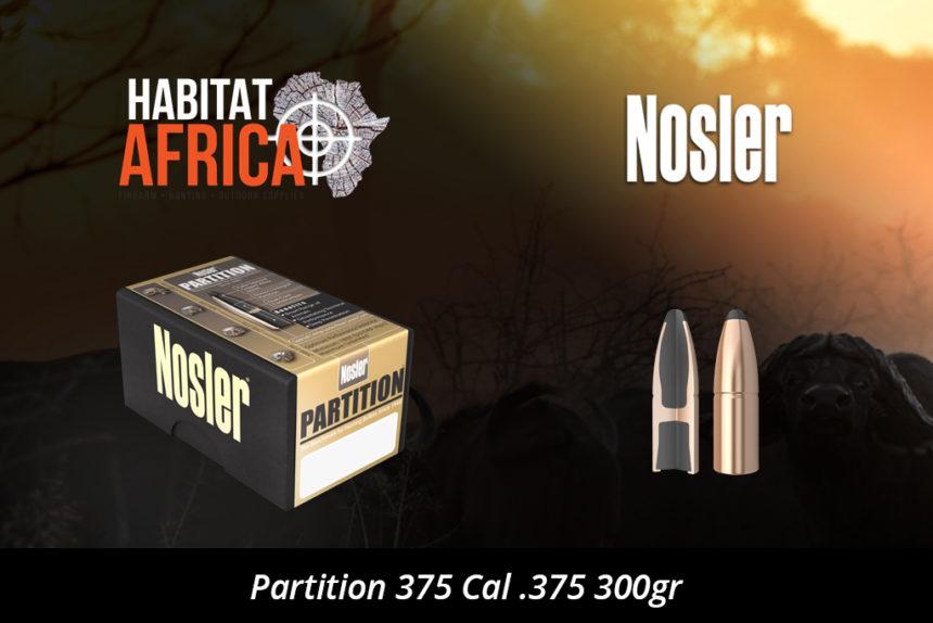 Nosler Partition 375 Cal 375 300gr Bullet