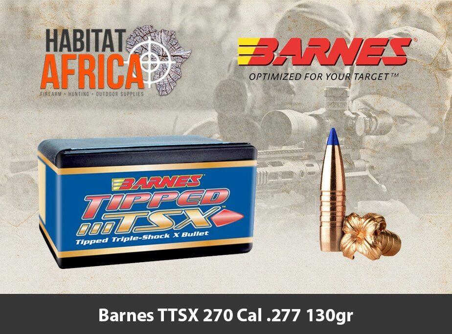 Barnes TTSX 270 Cal 277 130gr Bullet 50pts - Habitat ...