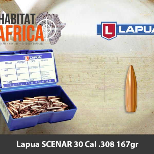 Lapua SCENAR 30 Cal 308 167gr