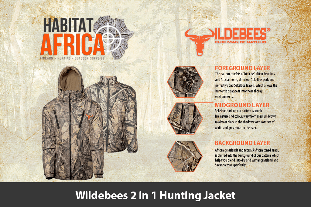 a3f8cad27c9736 Wildebees 2 in 1 Hunting Jacket - Habitat Africa