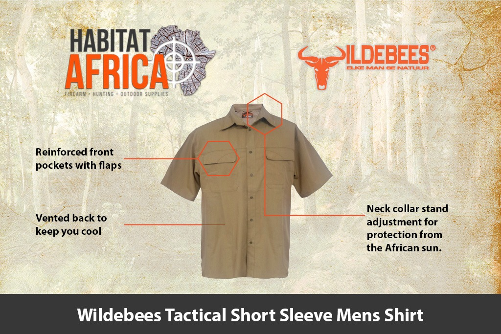 198f61ed0258f8 Wildebees Tactical Short Sleeve Mens Shirt - Habitat Africa