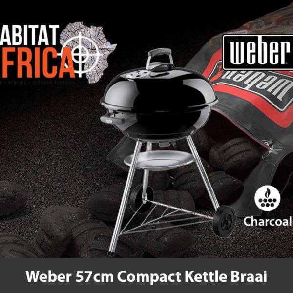 Weber 57cm Compact Kettle Charcoal Braai