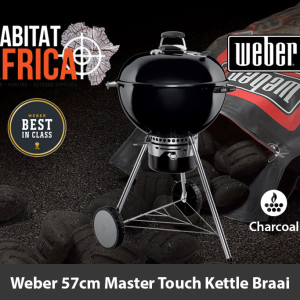 Weber 57cm Master Touch Kettle Charcoal Braai - Black