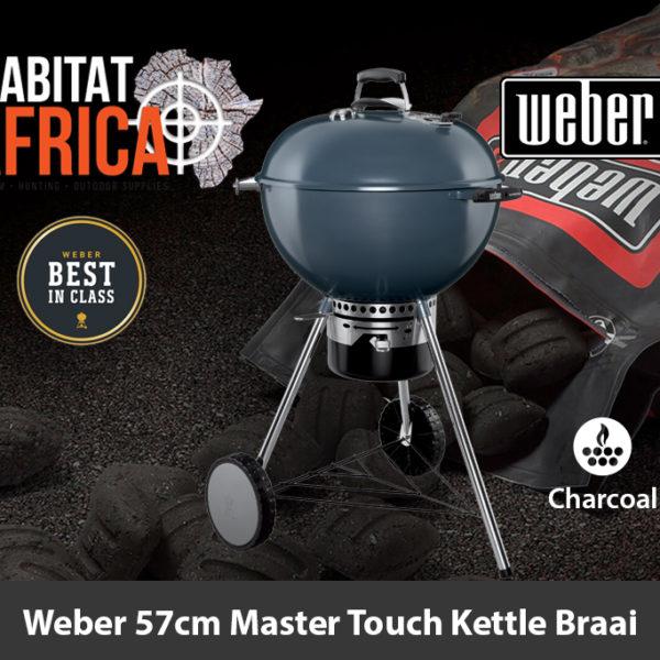 Weber 57cm Master Touch Kettle Charcoal Braai - Slate Blue