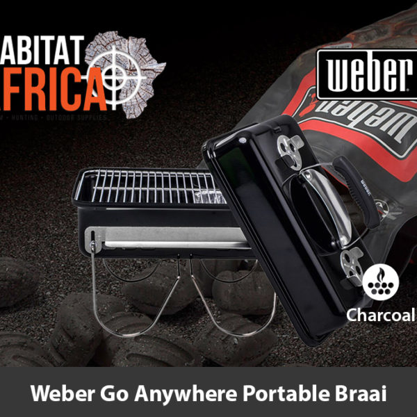 Weber Go Anywhere Portable Charcoal Braai and Lid