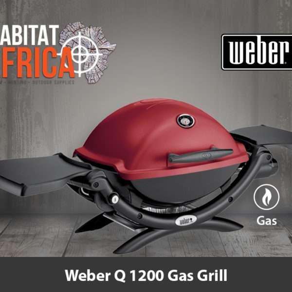 Weber Q 1200 Portable Gas Grill and Stand - Crimson