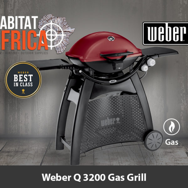 Weber Q 3200 Portable Gas Grill and Stand Crimson Red/Maroon - Best in Class