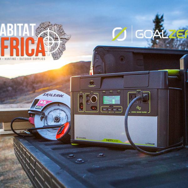 Goal Zero Yeti 400 Lithium Solar Generator Powering SA Workers