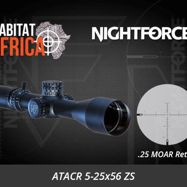NightForce ATACR 5-25x56 ZS .25 MOAR Digillum PTL Riflescope