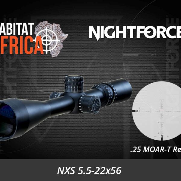 NightForce NXS 5.5-22x56 MOAR-T Riflescope