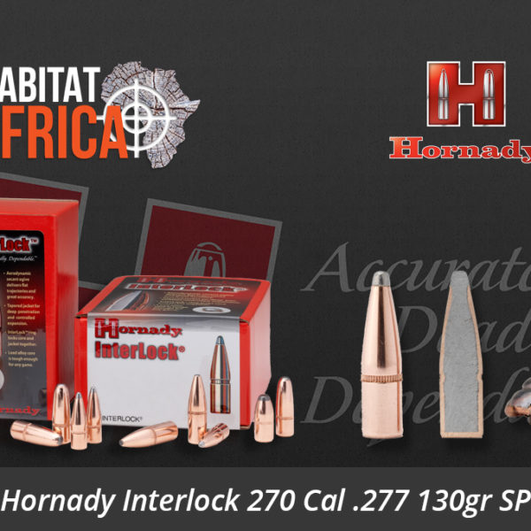 Hornady Interlock 270 Cal 277 130gr SP Bullets