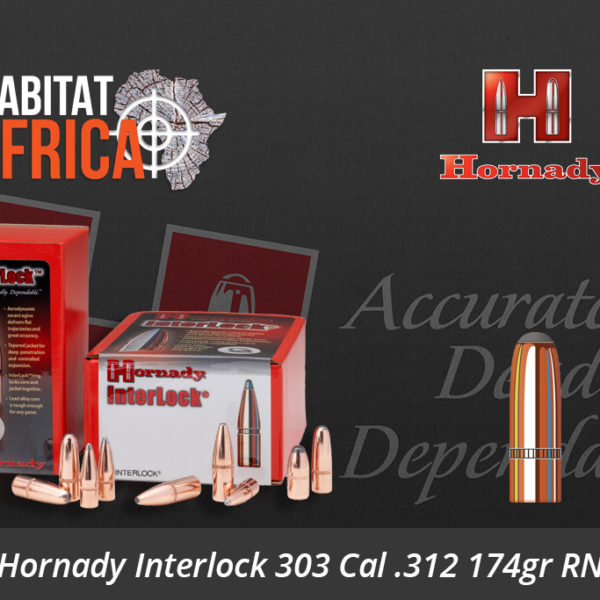 Hornady Interlock 303 Cal 312 174gr RN Bullets