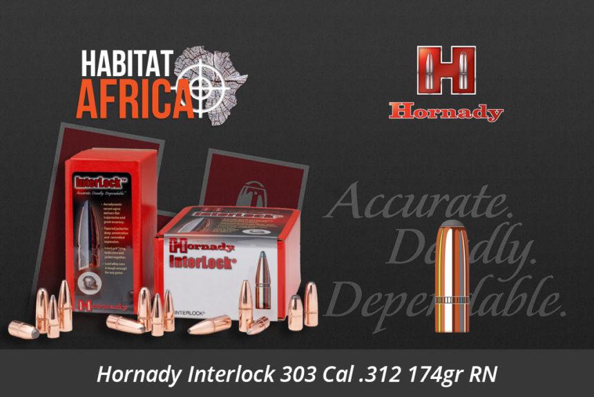 Hornady Interlock 303 Cal 312 174gr RN Bullets