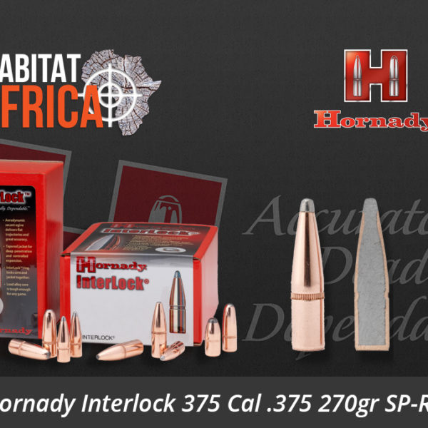 Hornady Interlock 375 Cal 375 270gr SP-RP Bullets