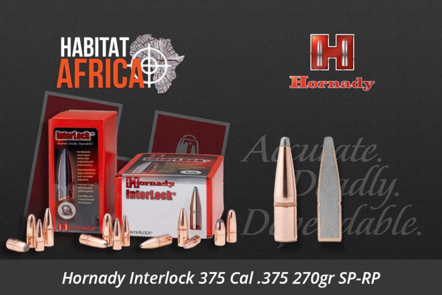Hornady Interlock 375 Cal 375 270gr SP-RP Bullets