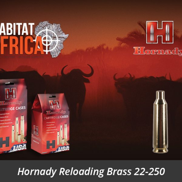 Hornady Reloading Brass 22-250 Remington - Habitat Africa | Gun Shop | South Africa