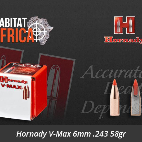 Hornady V-Max 6mm 243 58gr Bullets