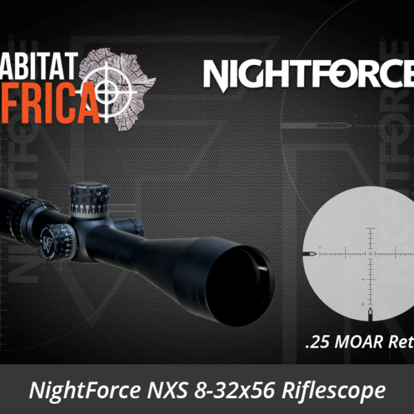 NightForce NXS 8-32x56 MOAR Riflescope - Habitat Africa | gun Shop | South Africa