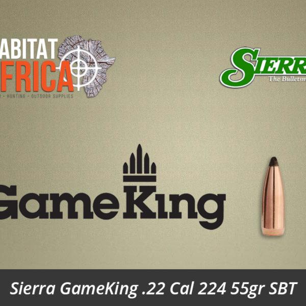 Sierra GameKing 22 Cal 224 55gr Spitzer Boat Tail Bullets - Habitat Africa | Gun Shop | South Africa