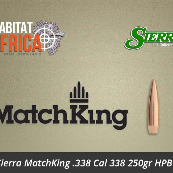 Sierra MatchKing 338 Cal 338 250gr HPBT Bullets - Habitat Africa   Gun Shop   South Africa