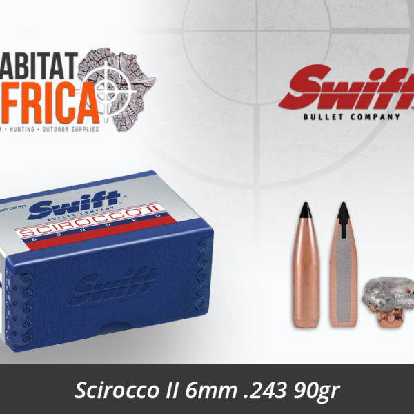 Swift Scirocco II 6mm 243 90gr Bullet