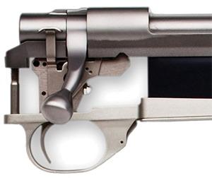 Howa Hunter 22 inch 223 Remington Blued Thumbhole Nutmeg Laminate - Howa Bolt Action Closeup