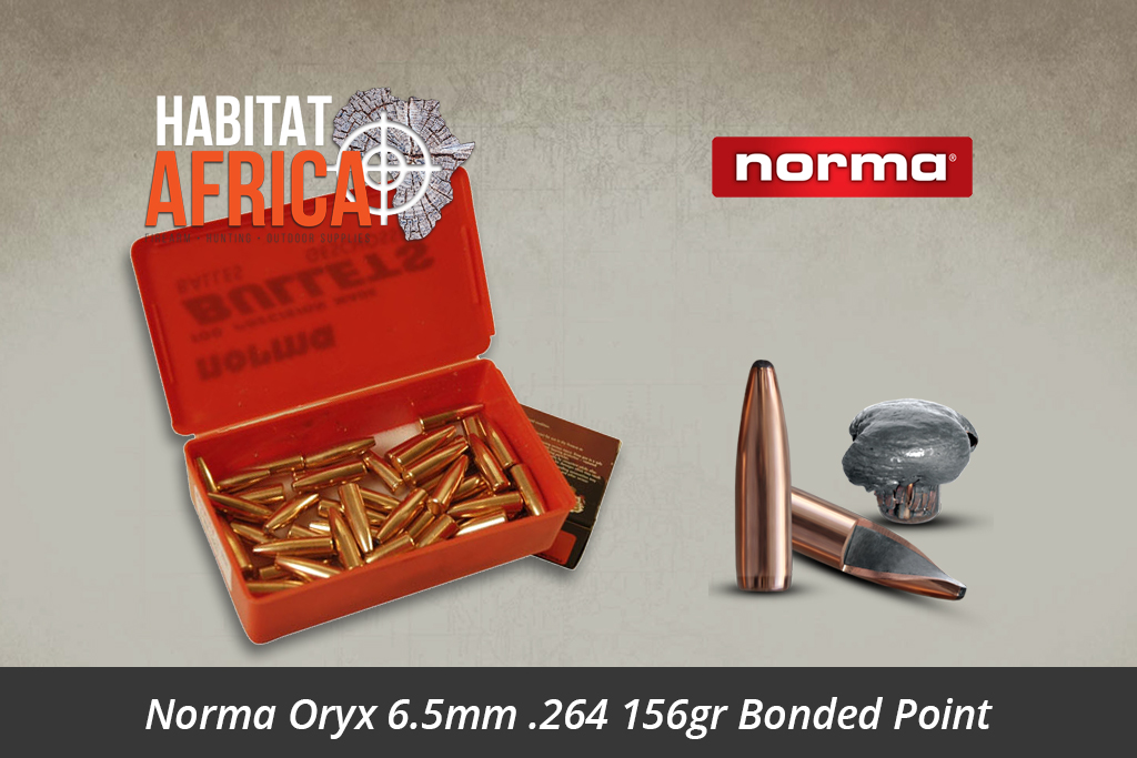 Norma Oryx 6 5mm 264 156gr Bonded Point Bullets 100pts