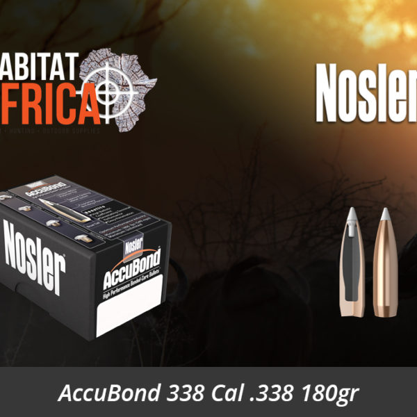 Nosler AccuBond 338 Cal 338 180gr Bullets - Habitat Africa | Gun Shop | South Africa