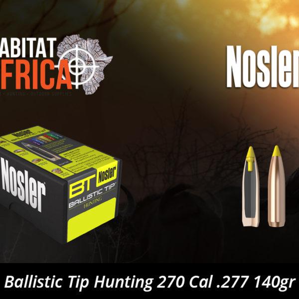 Nosler Ballistic Tip Hunting 270 Cal 277 140gr Bullets
