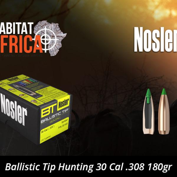 Nosler Ballistic Tip Hunting 30 Cal 308 180gr Bullets