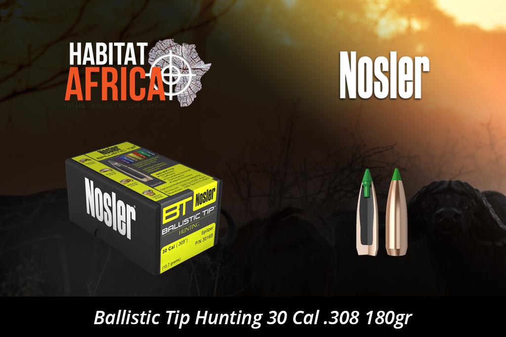 Nosler Ballistic Tip Hunting 30 Cal 308 180gr Bullets 50pts