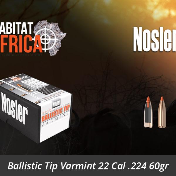 Nosler Ballistic Tip Varmint 22 Cal 224 60gr Bullets 100pts