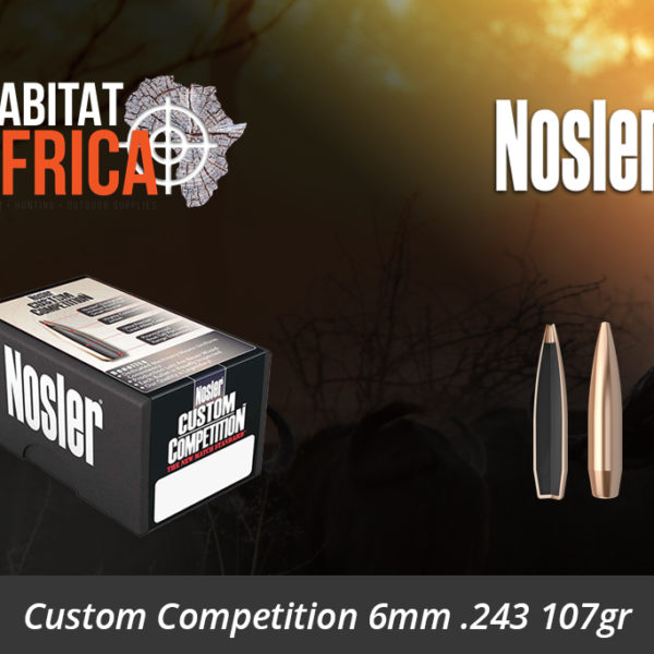 Nosler Custom Competition 6mm 243 107gr Bullets - Habitat Africa | Gun Shop | South Africa