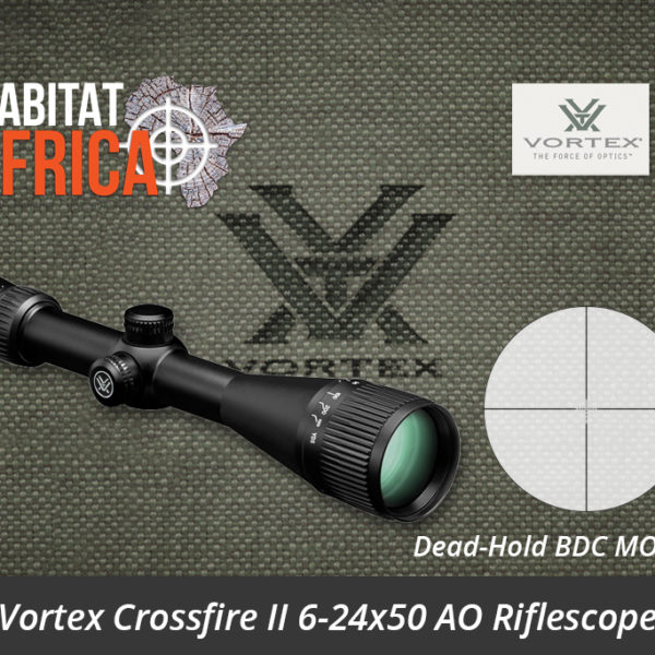 Vortex Crossfire II 6-24x50 AO Riflescope Dead-Hold BDC MOA Reticle - Habitat Africa | Gun Shop | South Africa