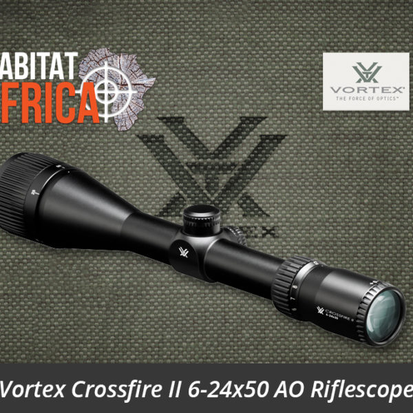 Vortex Crossfire II 6-24x50 AO Riflescope Side View Reticle - Habitat Africa | Gun Shop | South Africa