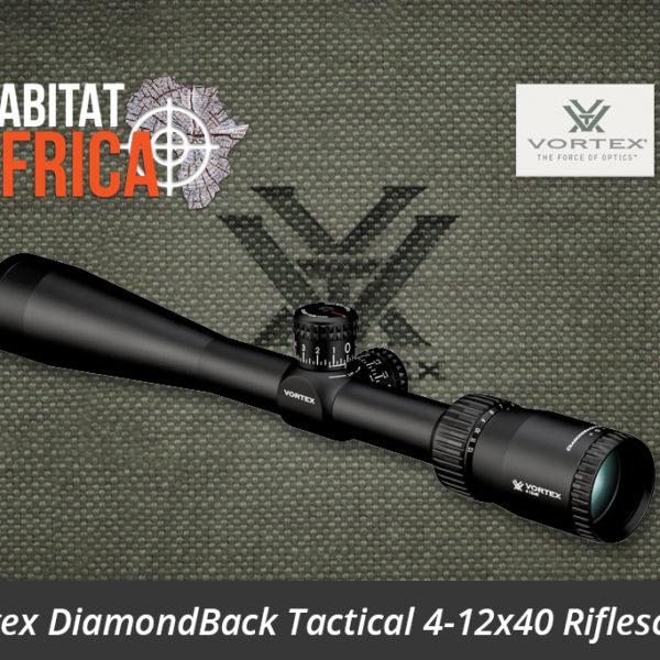Vortex DiamondBack Tactical 4-12x40 Riflescope VMR-1 MOA Reticle Side View - Habitat Africa | Gun Shop | South Africa