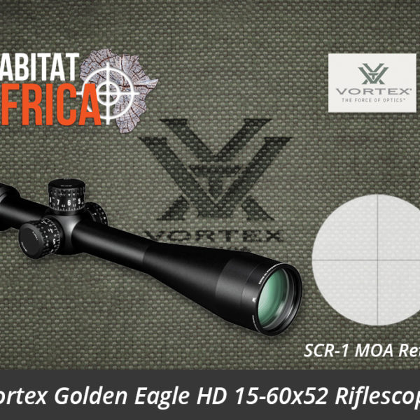 Vortex Golden Eagle HD 15-60x52 Riflescope SCR-1 MOA Reticle - Habitat Africa | Gun Shop | South Africa