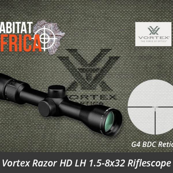 Vortex Razor HD LH 1.5-8x32 Riflescope G4 BDC Reticle - Habitat Africa | Gun Shop | South Africa