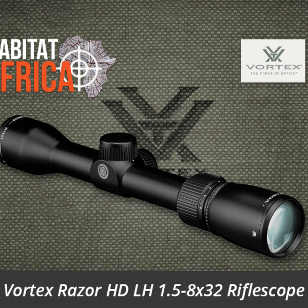 Vortex Razor HD LH 1.5-8x32 Riflescope G4 BDC Reticle Side View - Habitat Africa | Gun Shop | South Africa