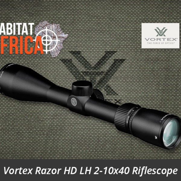 Vortex Razor HD LH 2-10x40 Riflescope Side View - Habitat Africa | Gun Shop | South Africa
