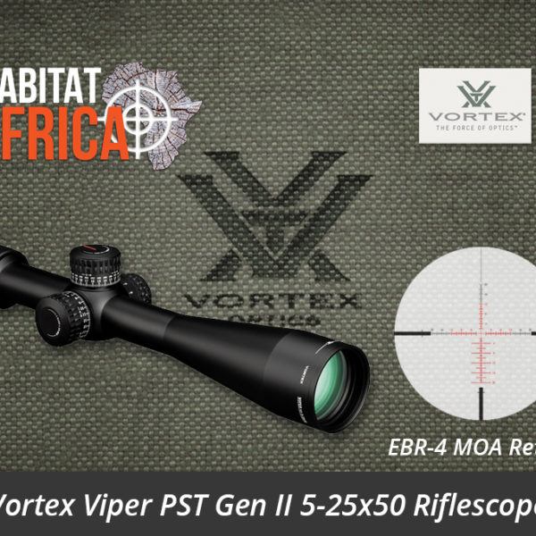 Vortex Viper PST Gen II 5-25x50 Riflescope EBR-4 MOA Reticle - Habitat Africa | Gun Shop | South Africa