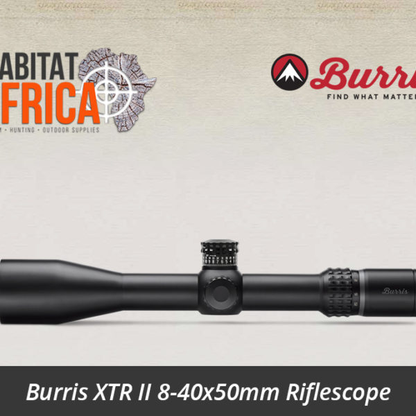 Burris XTR II 8-40x50mm Riflescope F-Class MOA Reticle