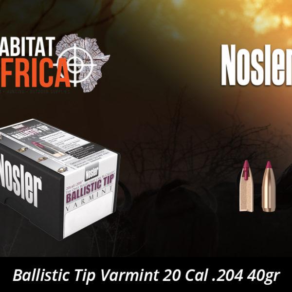 Nosler Ballistic Tip Varmint 20 Cal 204 40gr Bullet