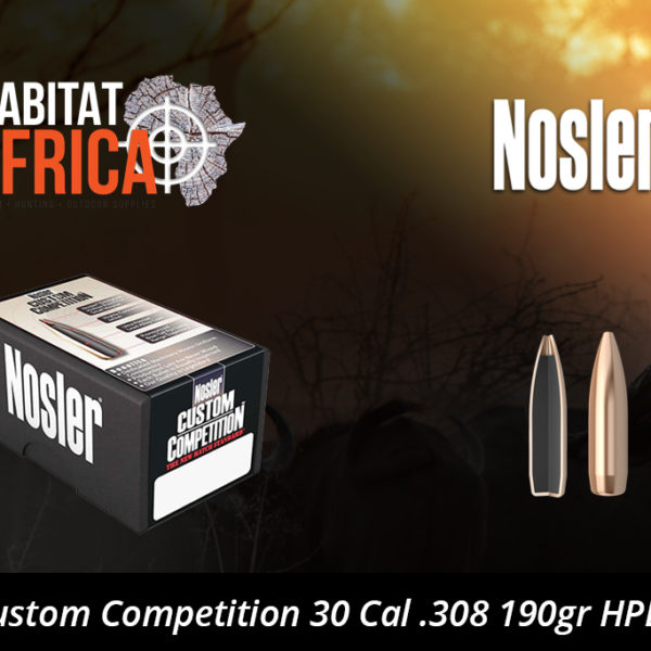 Nosler Custom Competition 30 Cal 308 190gr HPBT Bullet