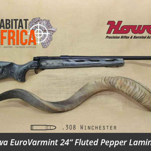 Howa EuroVarmint 24 inch 308 Winchester Fluted Pepper Laminate - Habitat Africa | Gun Shop | South Africa
