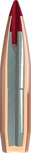 Hornady ELD-X 25 Cal 257 90gr Bullets Cutaway