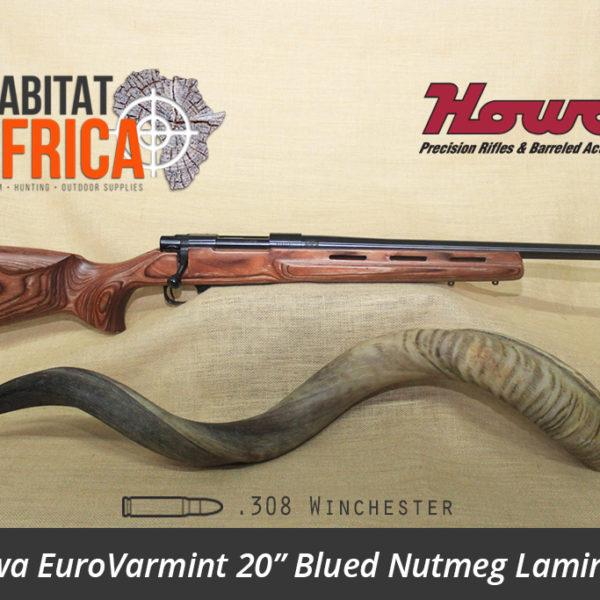 Howa EuroVarmint 20 inch 308 Winchester Blued Nutmeg Laminate - Habitat Africa | Gun Shop | South Africa